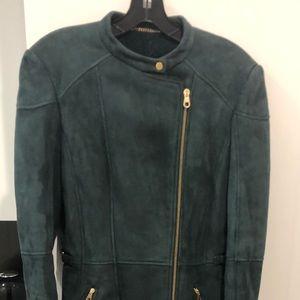 Hugo Boss Moss Green Shearling Coat